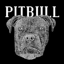 Load image into Gallery viewer, LA Pop Art Men's Premium Blend Word Art T-shirt - Pitbull Face