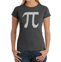 Load image into Gallery viewer, LA Pop Art Women's Word Art T-Shirt - THE FIRST 100 DIGITS OF PI