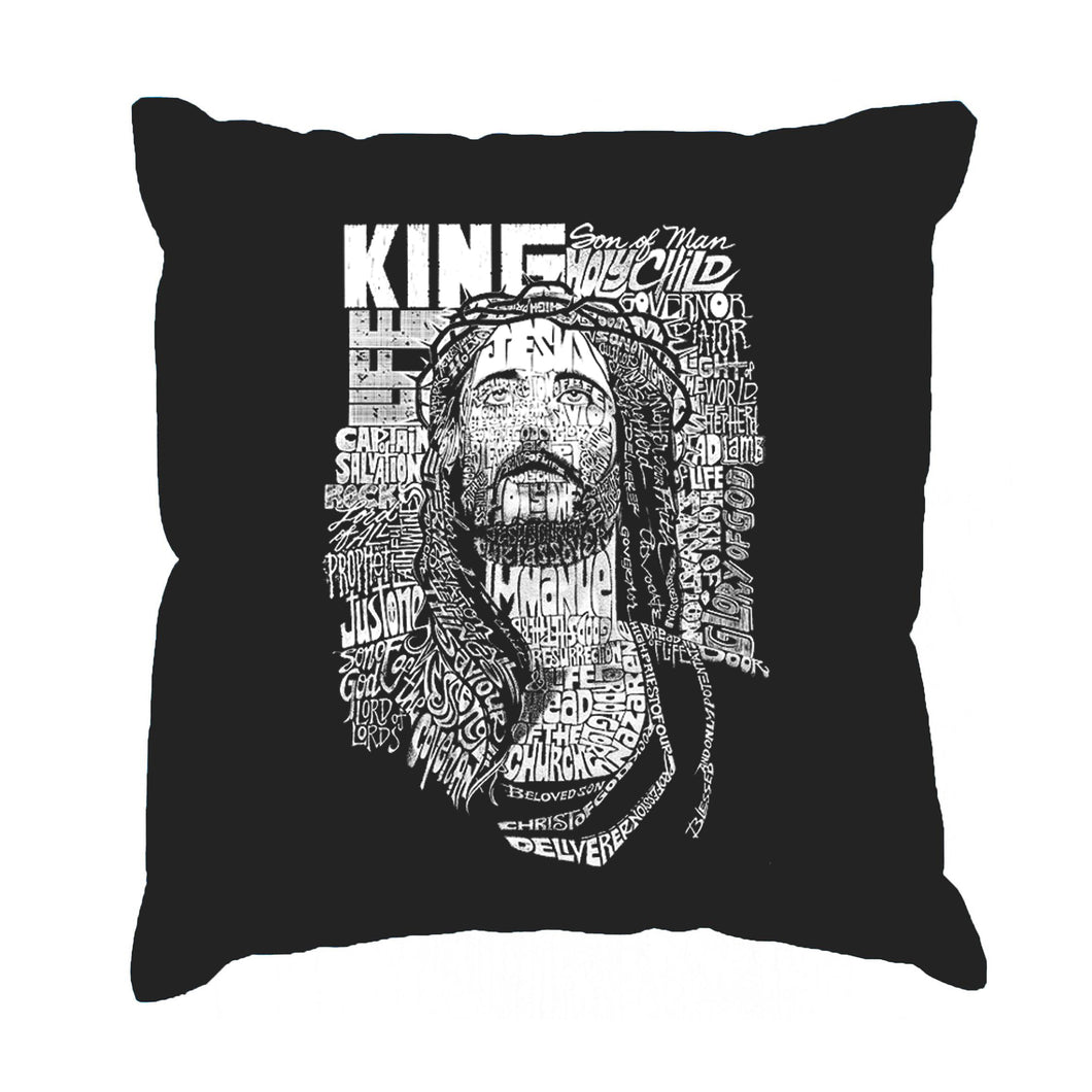 LA Pop Art Throw Pillow Cover - JESUS