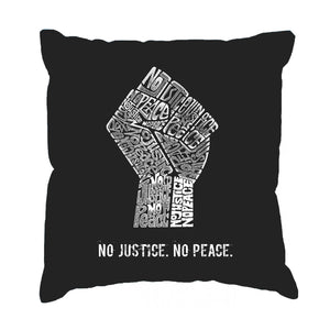 LA Pop Art Throw Pillow Cover - No Justice, No Peace