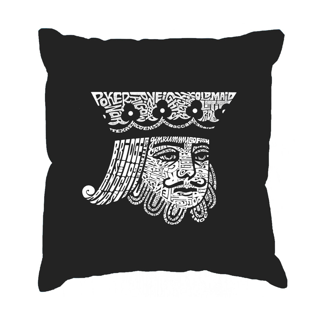 LA Pop Art Throw Pillow Cover - King of Spades