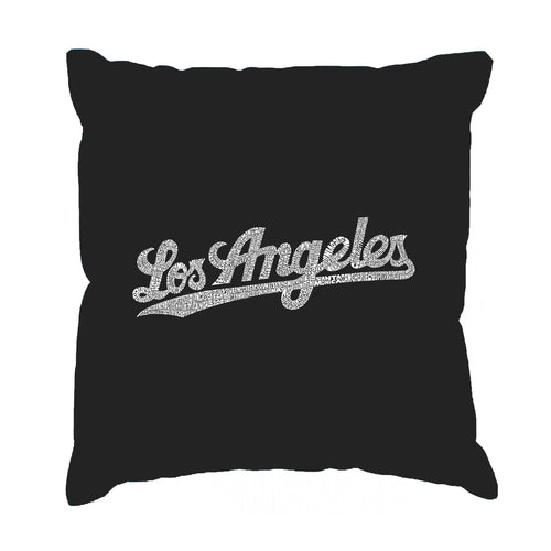 LA Pop Art Throw Pillow Cover - LOS ANGELES NEIGHBORHOODS