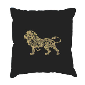 LA Pop Art Throw Pillow Cover - Lion