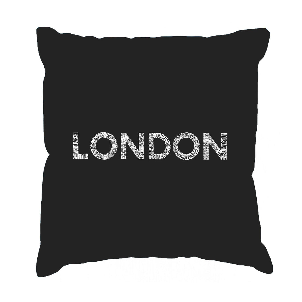 LA Pop Art Throw Pillow Cover - LONDON NEIGHBORHOODS