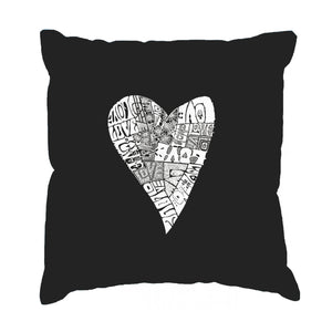 LA Pop Art Throw Pillow Cover - Lots of Love