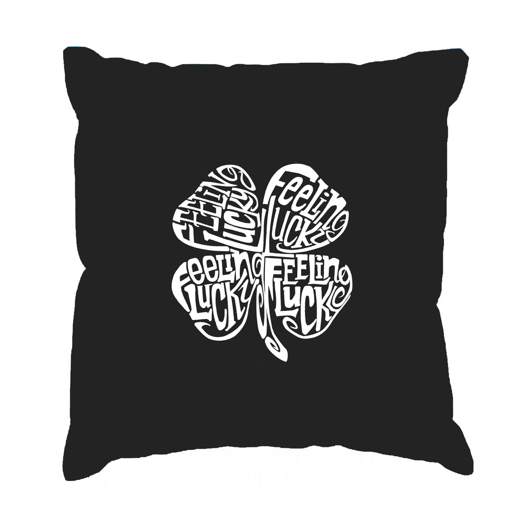 LA Pop Art Throw Pillow Cover - Feeling Lucky