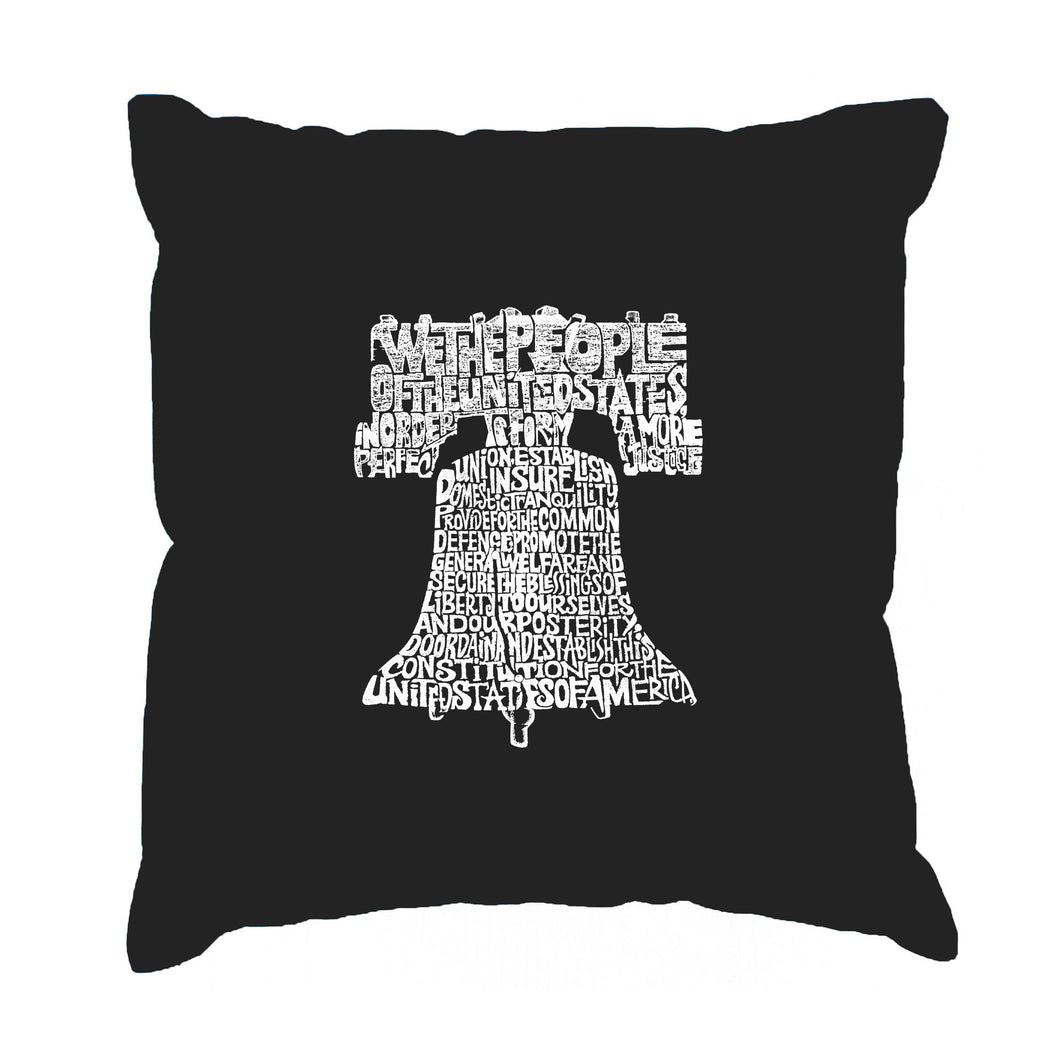 LA Pop Art  Throw Pillow Cover - Liberty Bell