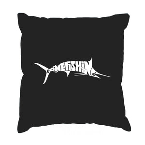 LA Pop Art Throw Pillow Cover - Marlin - Gone Fishing