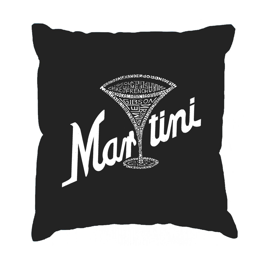LA Pop Art Throw Pillow Cover - Martini