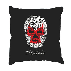 LA Pop Art Throw Pillow Cover - MEXICAN WRESTLING MASK