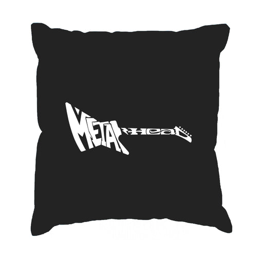 LA Pop Art Throw Pillow Cover - Metal Head