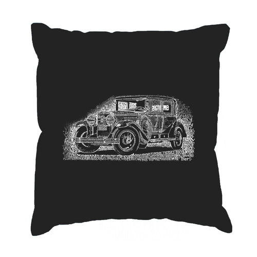 LA Pop Art Throw Pillow Cover - Legendary Mobsters