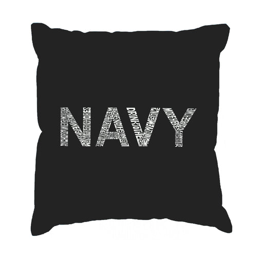 LA Pop Art Throw Pillow Cover - LYRICS TO ANCHORS AWEIGH