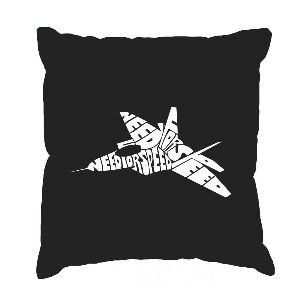 LA Pop Art Throw Pillow Cover - FIGHTER JET - NEED FOR SPEED