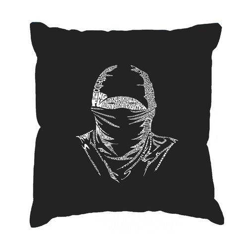 LA Pop Art Throw Pillow Cover - NINJA