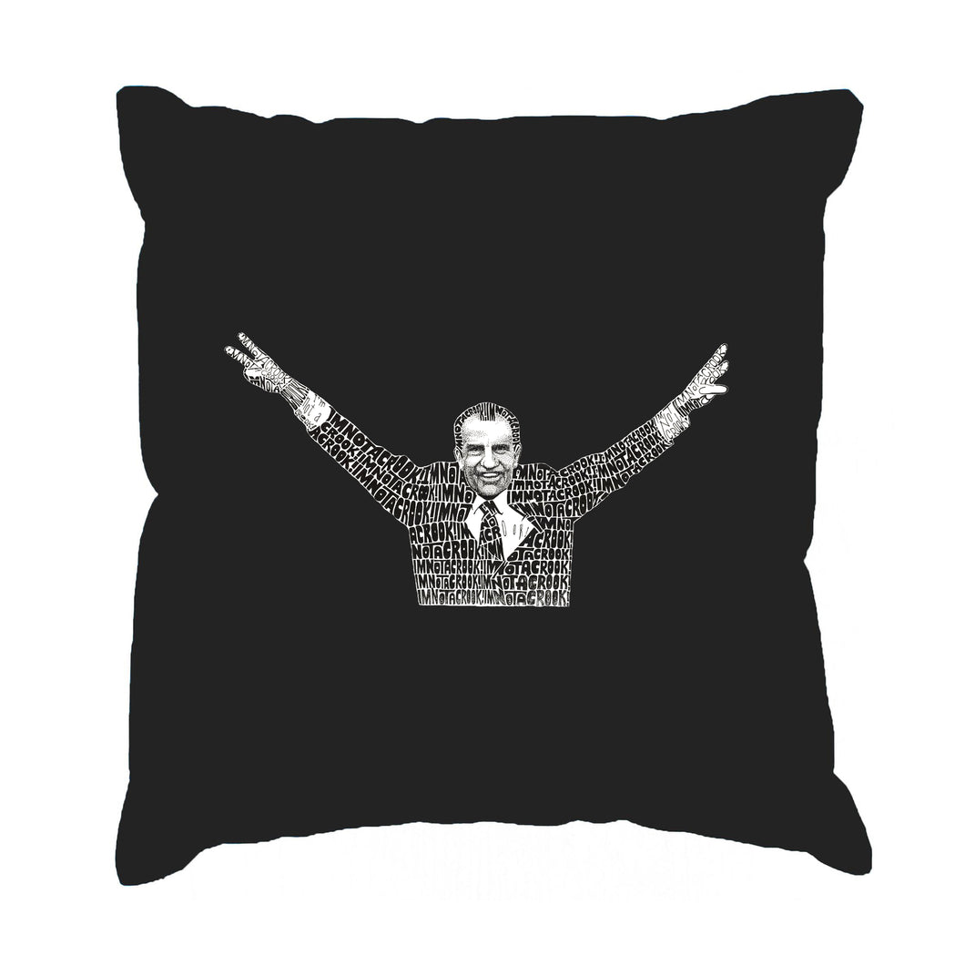 LA Pop Art Throw Pillow Cover - I'M NOT A CROOK