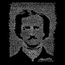 Load image into Gallery viewer, LA Pop Art Women's Word Art V-Neck T-Shirt - EDGAR ALLEN POE - THE RAVEN