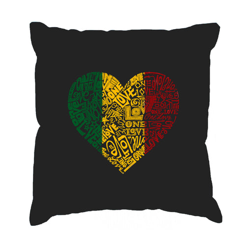 LA Pop Art  Throw Pillow Cover - One Love Heart
