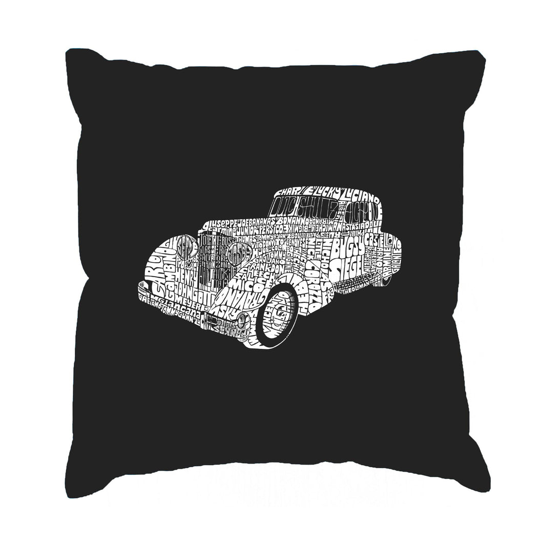 LA Pop Art Throw Pillow Cover - Mobsters