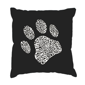 LA Pop Art Throw Pillow Cover - Dog Paw