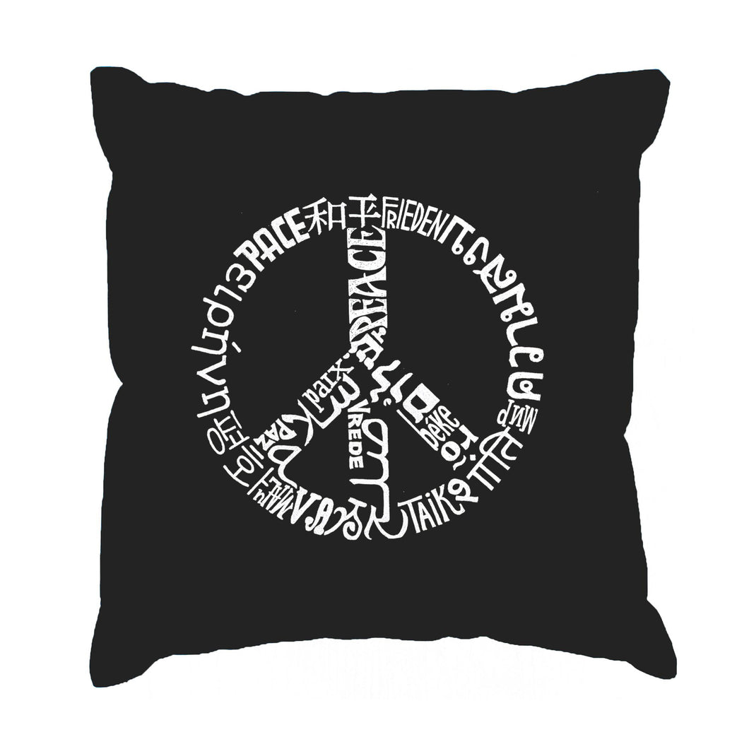 LA Pop Art Throw Pillow Cover - EVERY MAJOR WORLD CONFLICT SINCE 1770