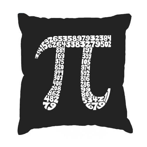 LA Pop Art Throw Pillow Cover - THE FIRST 100 DIGITS OF PI