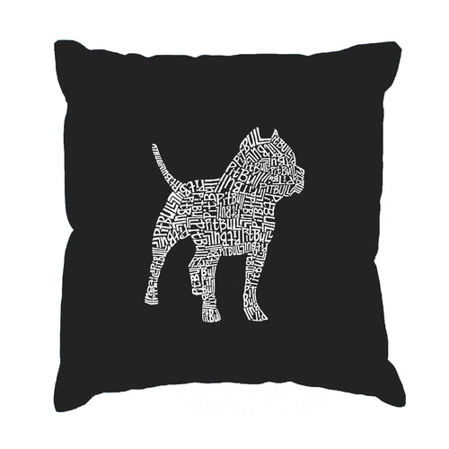 LA Pop Art  Throw Pillow Cover - Pitbull