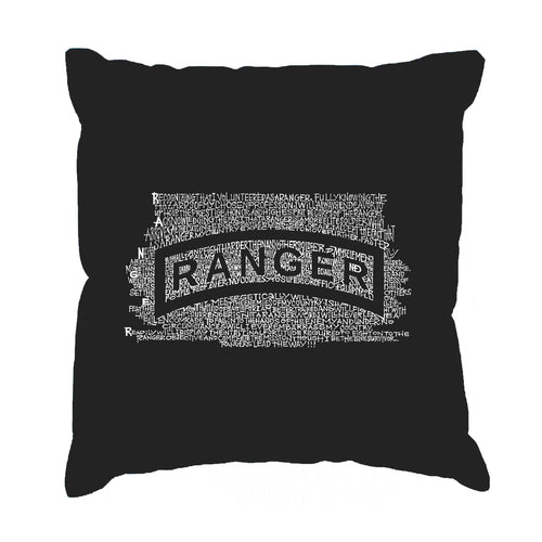 LA Pop Art Throw Pillow Cover - The US Ranger Creed