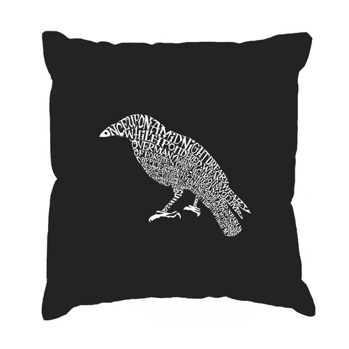 LA Pop Art  Throw Pillow Cover - Edgar Allan Poe's The Raven