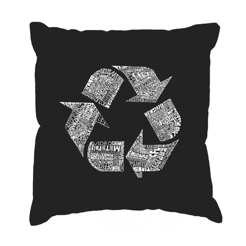 LA Pop Art Throw Pillow Cover - 86 RECYCLABLE PRODUCTS