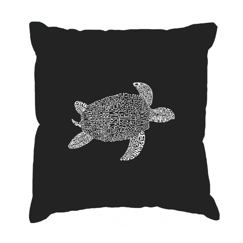 LA Pop Art Throw Pillow Cover - Turtle