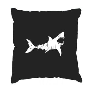 LA Pop Art Throw Pillow Cover - BITE ME
