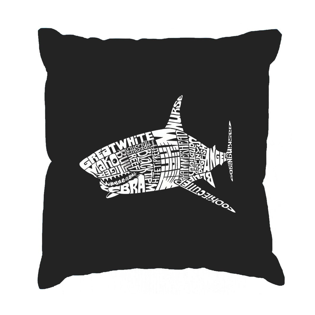LA Pop Art Throw Pillow Cover - SPECIES OF SHARK