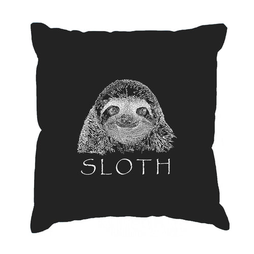 LA Pop Art Throw Pillow Cover - Sloth