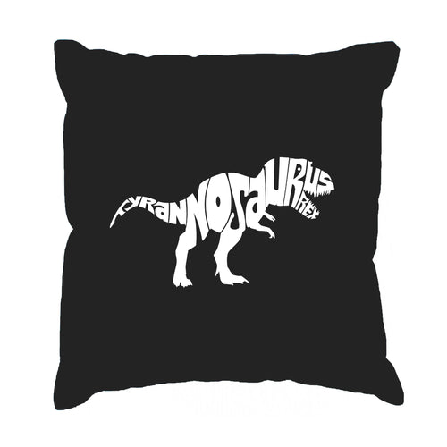 LA Pop Art Throw Pillow Cover - TYRANNOSAURUS REX