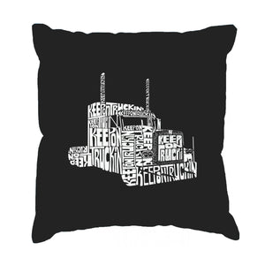 LA Pop Art Throw Pillow Cover - KEEP ON TRUCKIN'