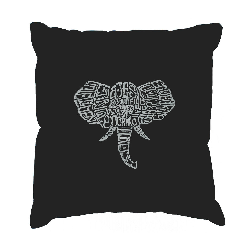 LA Pop Art Throw Pillow Cover - Tusks