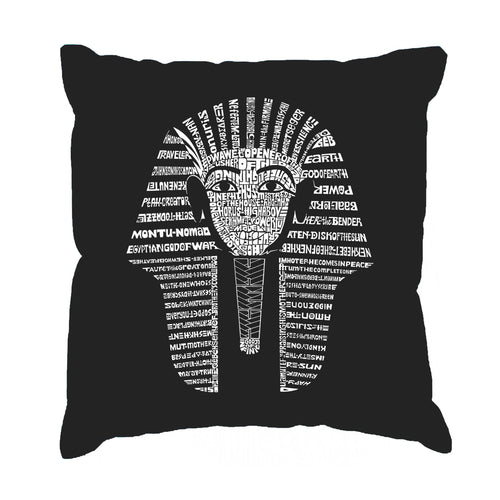 LA Pop Art Throw Pillow Cover - KING TUT