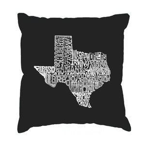 LA Pop Art Throw Pillow Cover - The Great State of Texas
