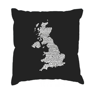 LA Pop Art Throw Pillow Cover - GOD SAVE THE QUEEN
