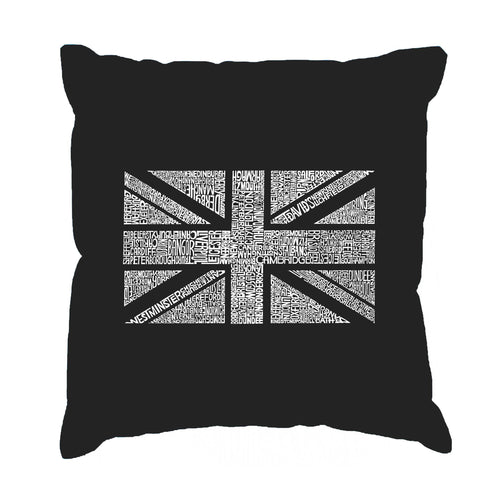 LA Pop Art Throw Pillow Cover - UNION JACK