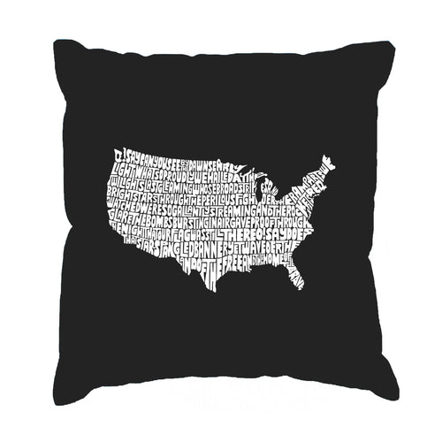 LA Pop Art Throw Pillow Cover - THE STAR SPANGLED BANNER