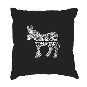 LA Pop Art Throw Pillow Cover - I Vote Democrat