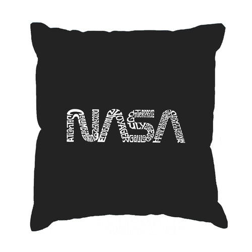 LA Pop Art Throw Pillow Cover - Worm Nasa