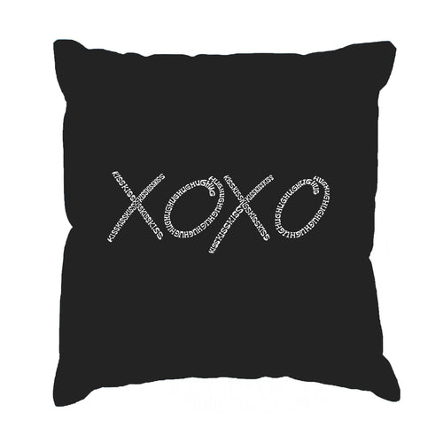 LA Pop Art Throw Pillow Cover - XOXO