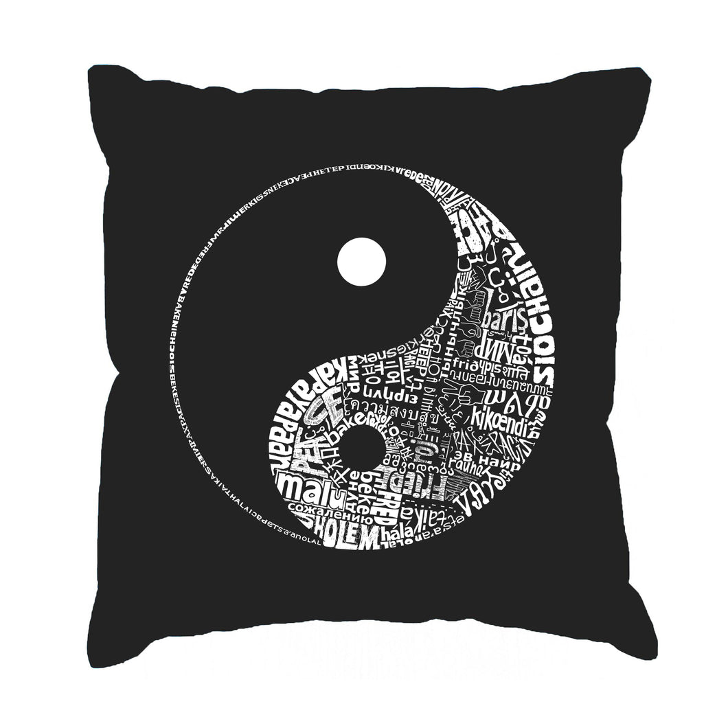 LA Pop Art Throw Pillow Cover - YIN YANG