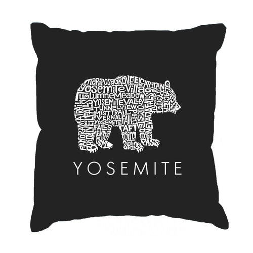 LA Pop Art  Throw Pillow Cover - Yosemite Bear