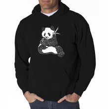 Load image into Gallery viewer, LA Pop Art Men's Word Art Hooded Sweatshirt - ENDANGERED SPECIES