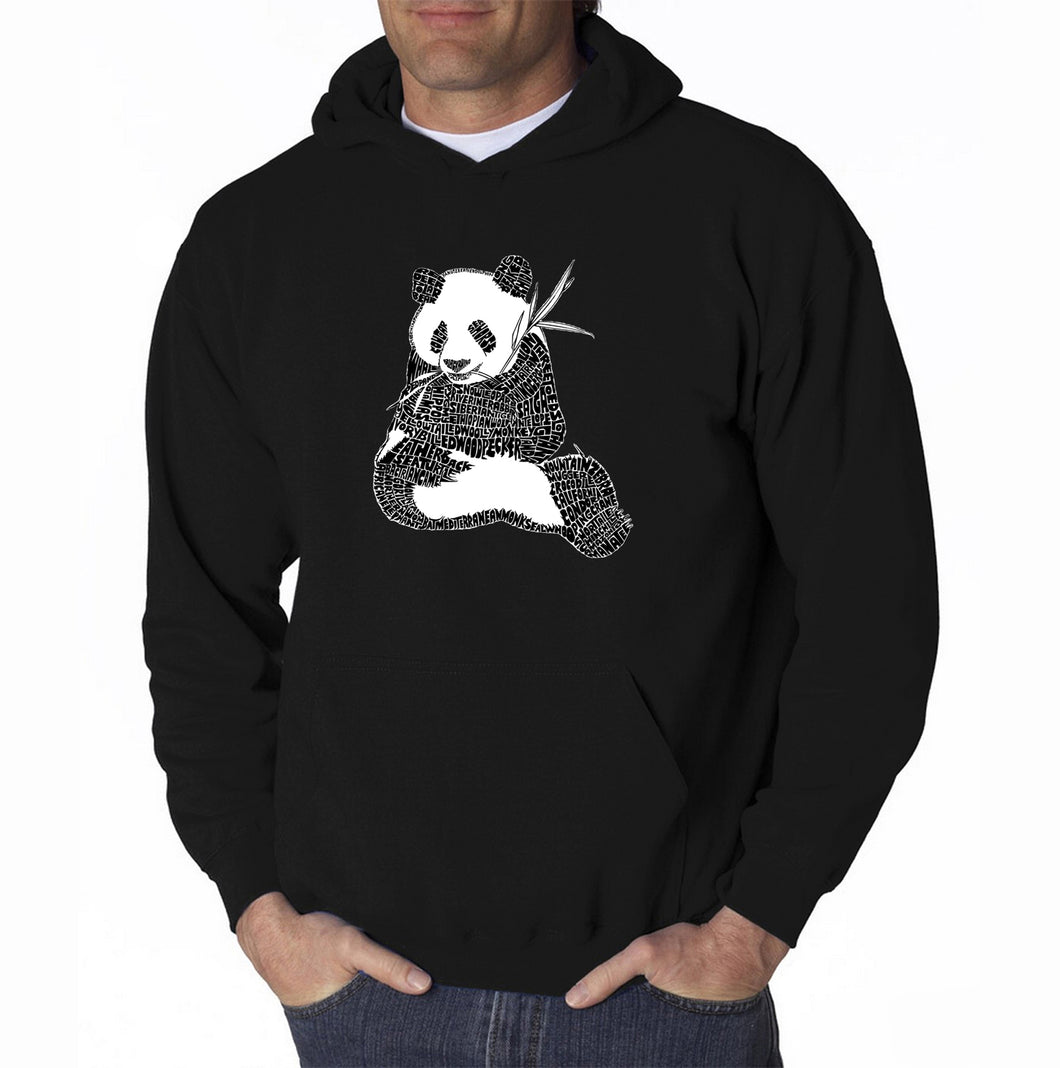 LA Pop Art Men's Word Art Hooded Sweatshirt - ENDANGERED SPECIES