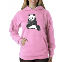 Load image into Gallery viewer, LA Pop Art Women's Word Art Hooded Sweatshirt -ENDANGERED SPECIES